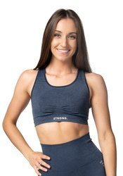 Bezszwowy Bra Top. Navy Blue Jeans