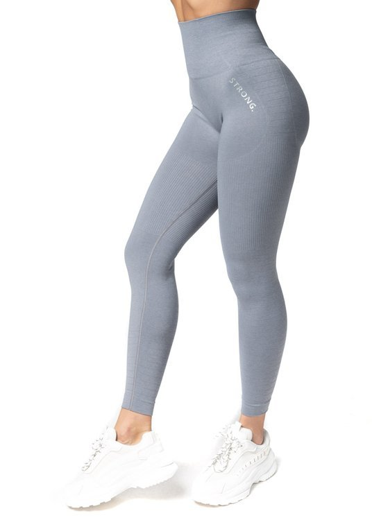 Strong. Legginsy Double Push Up Revolution. Light Grey.