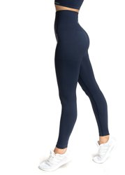 STRONG. - MODELUJĄCE LEGGINSY BEZSZWOWE NAVY BLUE (PUSH UP)